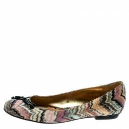 Missoni Multicolor Knit Ballet Flats Size 37 180466