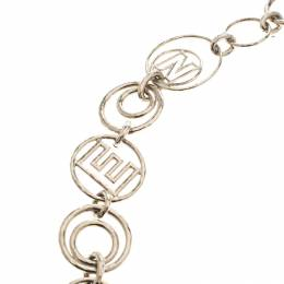 Chanel CC Gold Tone Hula Loop Chain Link Necklace 186119