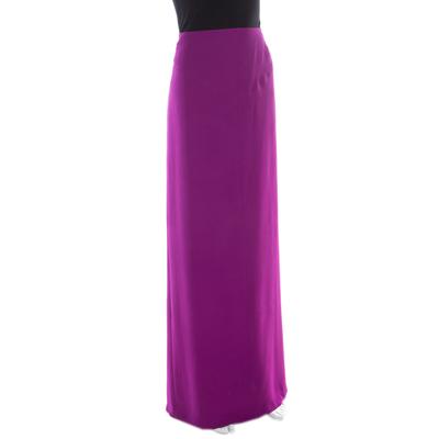 Gianfranco Ferre Purple Crepe Maxi Skirt L 186339 - 1