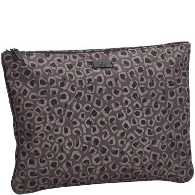 Gucci Brown Leopard Print Nylon Clutch Bag 179508 - 1