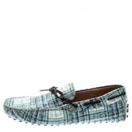 Tod's Abstract Print Leather Bow Loafers Size 42.5 192589