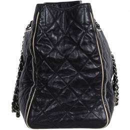 Chanel Black Leather Chain Shoulder Bag 187867