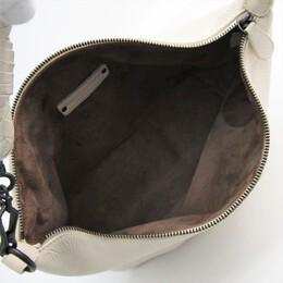 Bottega Veneta Off-White Leather Small Shoulder Bag 193462