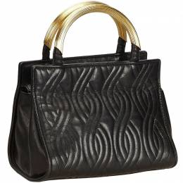 Fendi Black Leather Everyday Bag 156455