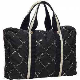 Chanel Black Nylon Travel Line Everyday Bag 140460