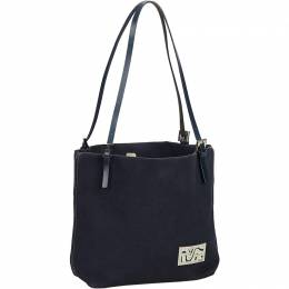 Fendi Black Canvas Tote Bag 194345