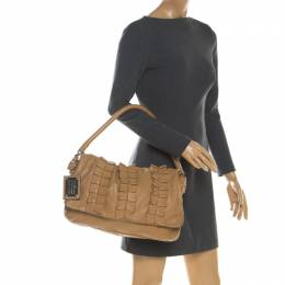 Dolce & Gabbana Brown Leather Miss Lexington Shoulder Bag 198830