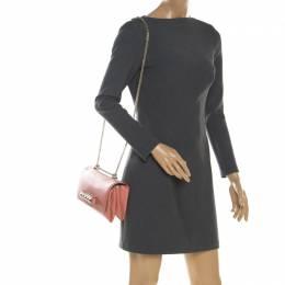 Valentino Pink Leather Va Va Voom Chain Shoulder Bag 198943