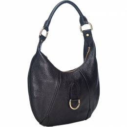 Burberry Black Grained Leather Hobo Bag 193853