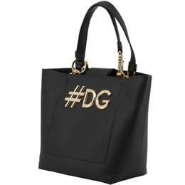 Dolce & Gabbana Black Leather DG Girls Tote 199254
