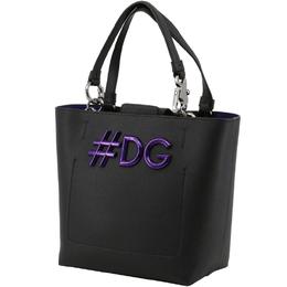 Dolce & Gabbana Black Leather DG Girls Tote 199255