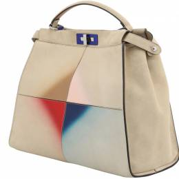 Fendi Multicolor Suede Large Peekaboo Bag 199333