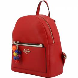Love Moschino Red Faux Leather Backpack 183486