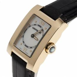 Montblanc White 18k Yellow Gold Profile Women's Wristwatch 36MM 8372
