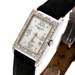 Raymond Weil Mother of Pearl Stainless Steel Diamonds Tango 5981 Women's Wristwatch 23 mm 172500