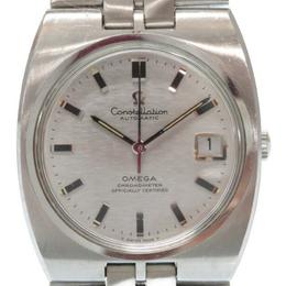 Omega Silver Stainless Steel Constellation Vintage Men's Wristwatch 35MM 184454