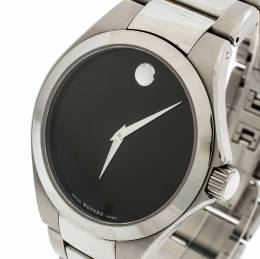 Movado Black Stainless Steel Defio Men's Wristwatch 40MM 195519