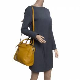 Etro Yellow Leather Satchel 152027
