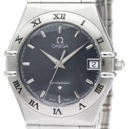 Omega Grey Stainless Steel Constellation Men's Wristwatch 33.5MM 232039
