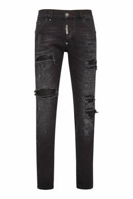 Темно-серые джинсы Destroyed Philipp Plein 1795136782