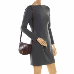 Mulberry Burgundy Leather Tessie Crossbody Bag 201185