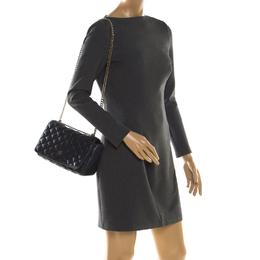 Carolina Herrera Navy Blue Quilted Leather Chain Shoulder Bag 201448