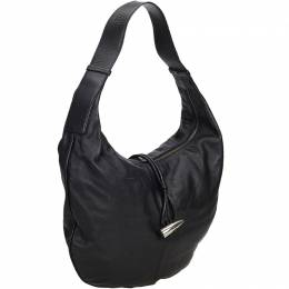 Burberry Black Leather Hobo Bag 194810