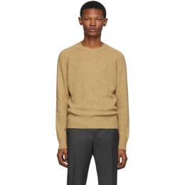 Prada Tan Shetland Wool Sweater 192962M20101201GB