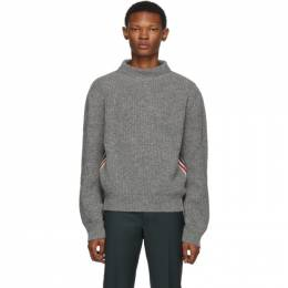 Thom Browne Grey Stripe Relaxed Fit Boat Neck Sweater MKA249A-01085