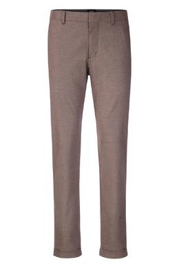 Серо-коричневые брюки с подворотами Strellson 585136587