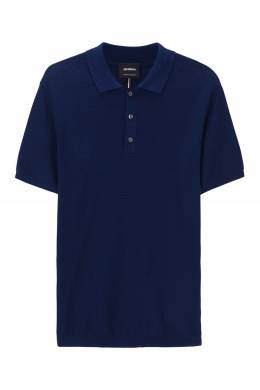 Синяя вязаная рубашка-поло Strellson 585136543