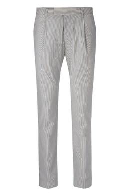 Прямые серые брюки в полоску Strellson 585136634