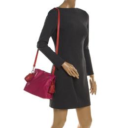 Loewe Pink/Coral Leather Small Flamenco Shoulder Bag 201643