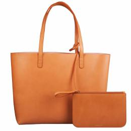 Mansur Gavriel Cammello/Rosa Leather Large Tote 201663