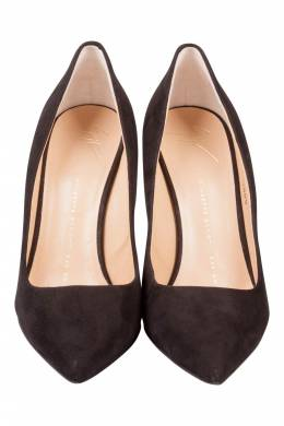 Giuseppe Zanotti Design Black Suede Pointed Toe Pumps Size 38 201593