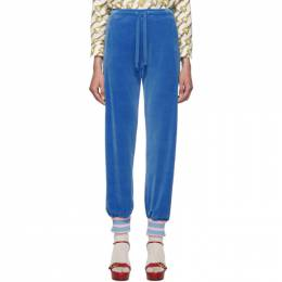 Gucci Blue Chenille Lounge Pants 581088XJBIP