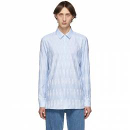 Neil Barrett Blue Lightning Bolt Shirt PBCM 1219 M028