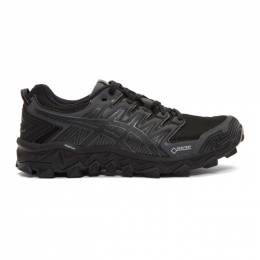 Asics Black and Grey GEL-FujiTrabuco G-TX Sneakers 1011A209