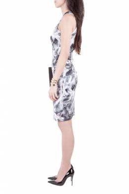 MCQ by Alexander McQueen Grey Mirrored Iris Print Jersey Sleeveless Bodycon Dress XS 201687