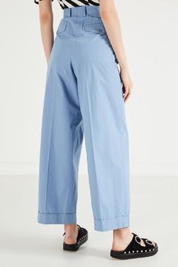 Широкие голубые брюки Dries Van Noten 1525137256