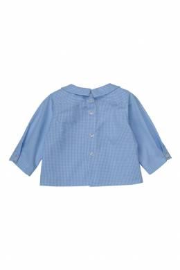 Хлопковая синяя рубашка AQUARELLE Bonpoint 121076428