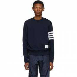 Thom Browne Navy Classic 4-Bar Sweatshirt MJT021H-00535