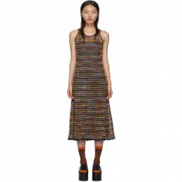M Missoni Blue Crochet Dress 192269F05400107GB