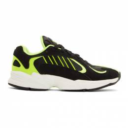 Adidas Originals Black and Yellow Yung-1 Sneakers EE5317