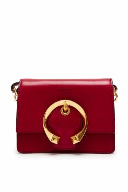 Красная мини-сумка с золотистой пряжкой Madeline Jimmy Choo 25138541