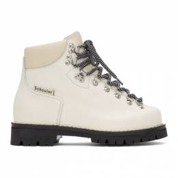 Proenza Schouler White Lace-Up Hiking Boots 192288F11300801GB