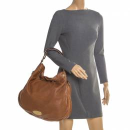 Mulberry Tan Pebbled Leather Mitzy Hobo 206011