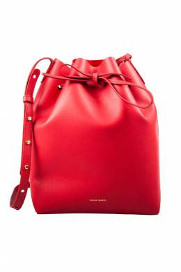 Mansur Gavriel Red Leather Bucket Bag 204001