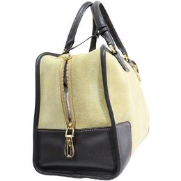 Loewe Beige Amazona Suede Leather Bag 187782