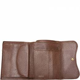 Gucci Brown Leather Saddle Wallet 161120